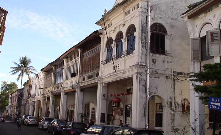 Palazzi coloniali a Penang