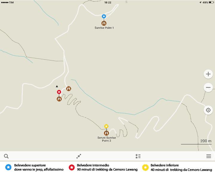 Mappa di Bromo (dettaglio)