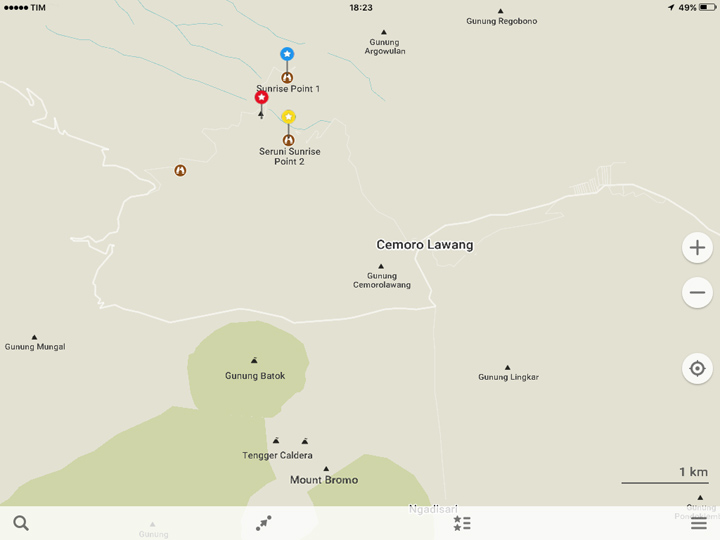 Mappa di Bromo